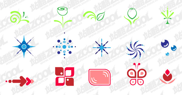Simple elements vector graphics material