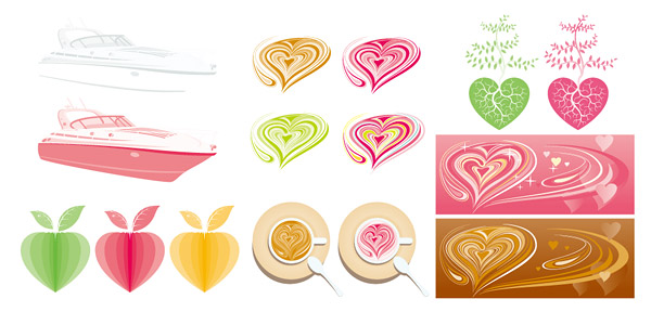 Pink Series vector graphics material