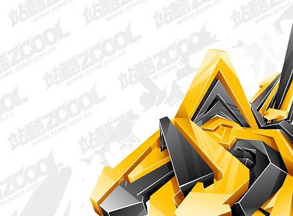 Crystal 3D style three-dimensional vector arrow material