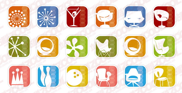Simple icon vector graphics material