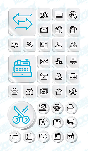 Simple style icon vector graphics post material