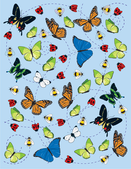 Insect vector illustration material