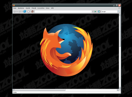 Firefox browser window vector material