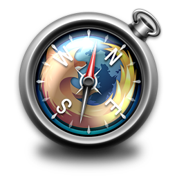 Apple System Browser Compass series of icons transparent png