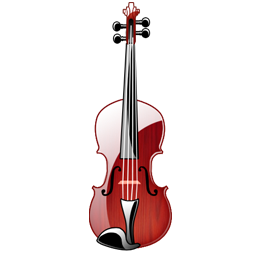 Crystal Violin series transparent PNG icon