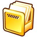 Gold effect computer icon series