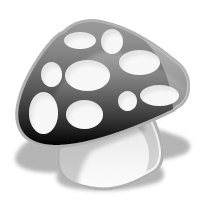 Crystal cartoon series icon mushrooms