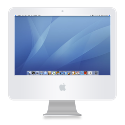 imac series of transparent PNG icon display