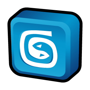 Three-dimensional computer cartoon icon transparent PNG