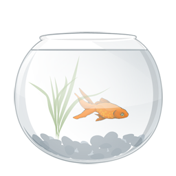 The series of transparent PNG icon fish tank