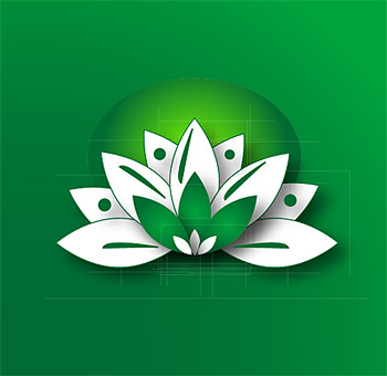 Lotus vector graphics material