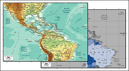 Vector map of the world exquisite material - the Central American map