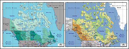 Vector map of the world exquisite material - Canada map
