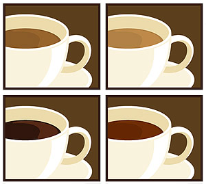 Mug of vector material
