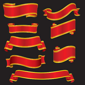 ribbon vector -1