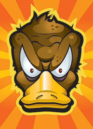 Vector cartoon duck material