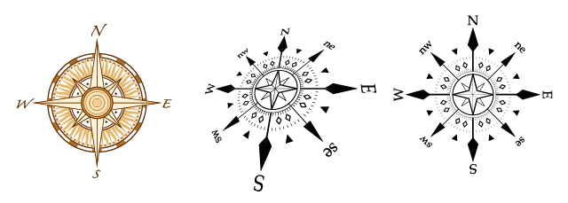 Compass Vector Graphics