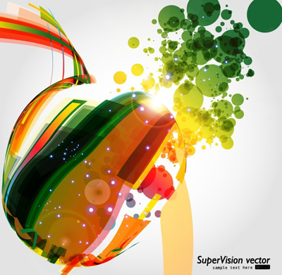 Symphony of dynamic light vector background material -5