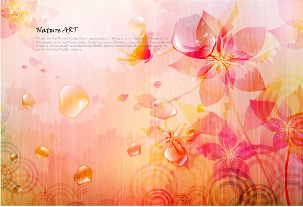 Romantic Floral Pattern Background Vector Design Material