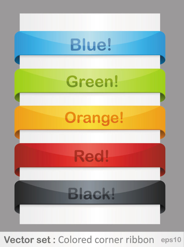 Color of the ribbon 01 - Vector