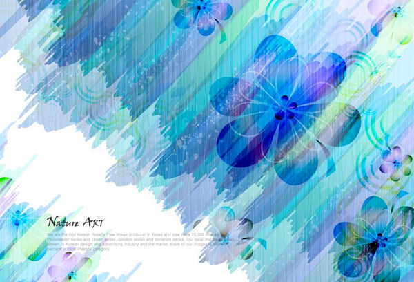 Romantic floral pattern background vector design material -3