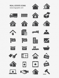 Office set vector icons