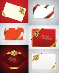 Beautiful holiday cards vector material