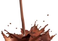 Vector splash of chocolate