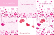 Pink sweetheart romantic element vector material