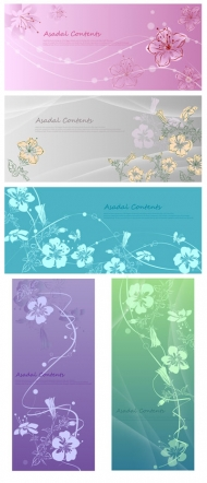 Hand-painted flowers vector fantasy