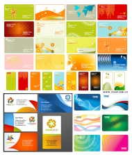 Variety of commercial card vector material