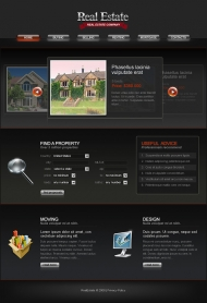 Exquisite European-style Web site templates psd + fla source file
