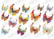 14 Butterfly vector material