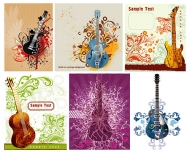 Guitar patterns and vector material
