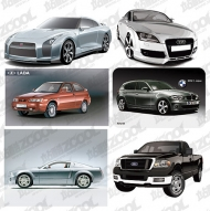 AI cars vector drawing material