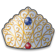Variety of fine crown icon transparent png