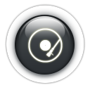 Round trip black crystal button campaign transparent PNG