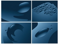 Blue water vector material