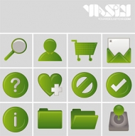 Green common web design style icon