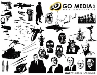 Go Media produced vector material - the theme of war