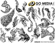 Go Media produced vector material - Continental and lace wings