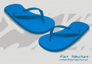 Vector material slippers cdr