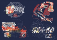 Movement and the street culture vector material-8