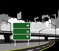 Town Highway vector material