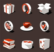 3D three-dimensional vector style icon-1