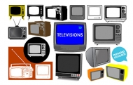 Retro TV vector material