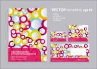 Ring elements of the background pattern 01 - Vector