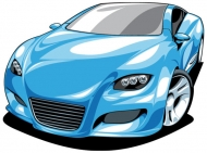 Exquisite sports car 01 - Vector