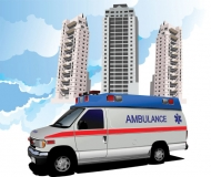 Ambulance Vector Bus (Vector Graphics)