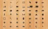 100 Crafty Crazicons on Wood Background